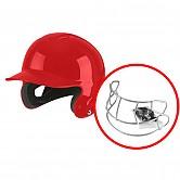 BMC 2020 유소년 헬멧 안면보호대 탈부착가능 (적색)