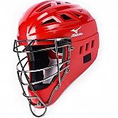 [380171] 미즈노 SAMURAI 유소년 일체형 헬멧 (적색)